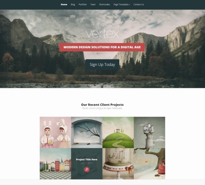 WordPress parallax effect themes